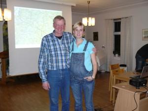 Maria Fryklund tackades för sin insats i styrelsen.