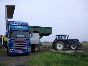 Från högtipp till lastbil