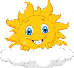 lycklig-soltecknad-film-bak-molnet-51245403